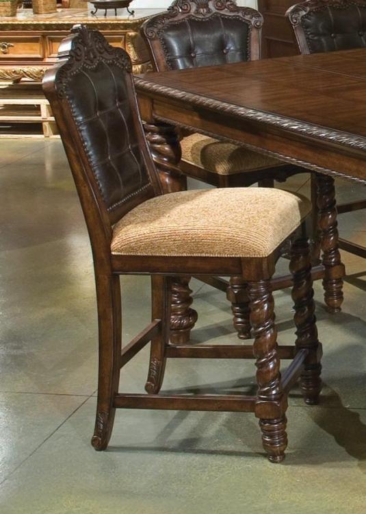 Conquistador Leather Pub Chair