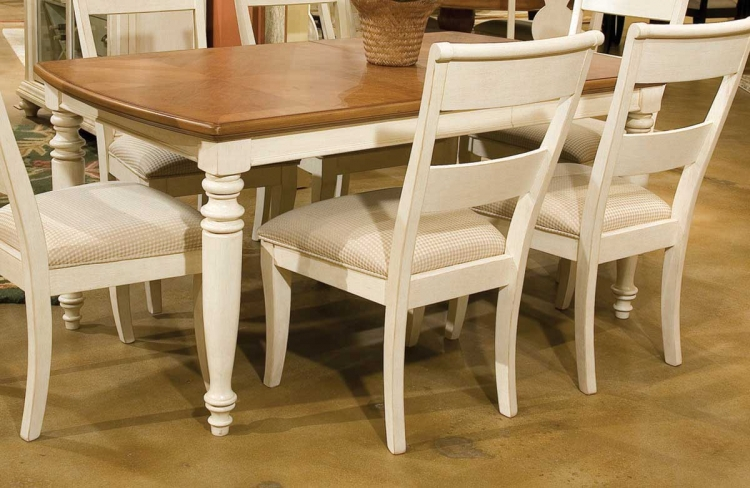 Dining a la Carte Rectangular Leg Extension Table