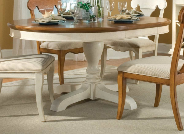 Dining a la Carte Round Pedestal Extension Table