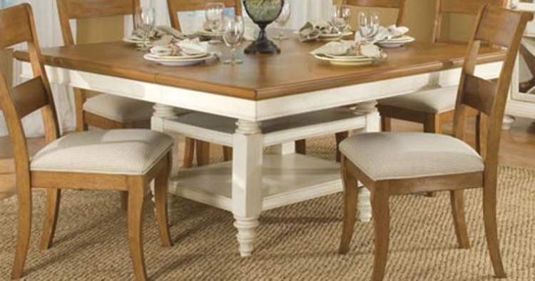 Dining a la Carte Square Pedestal Extension Table