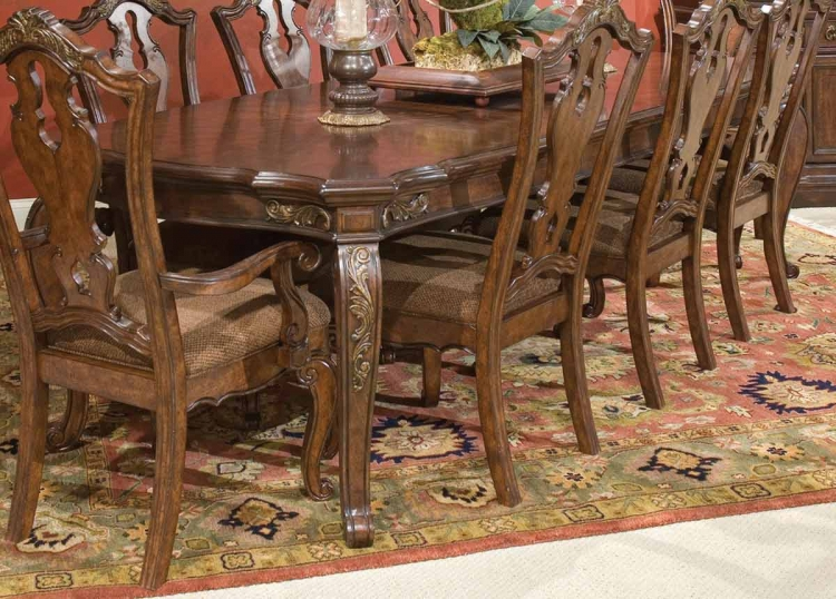 Tuscan Manor Leg Extension Table