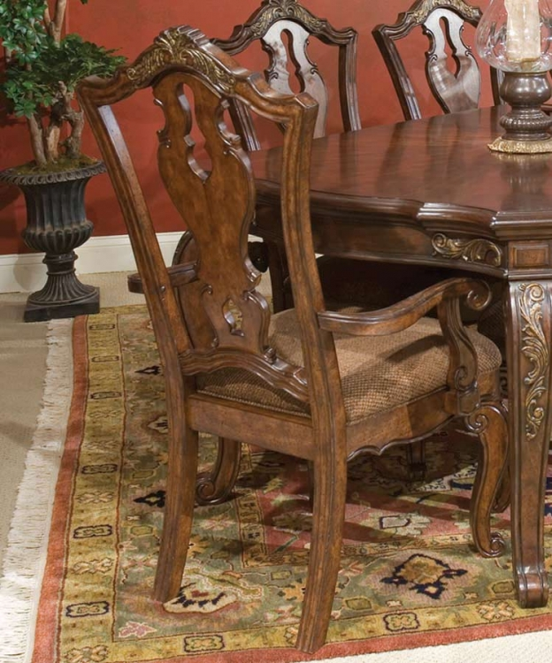 Tuscan Manor Splat Back Arm Chair