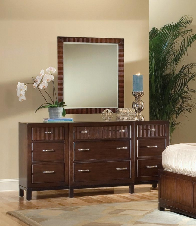 Vista Dresser with Rectangular Mirror