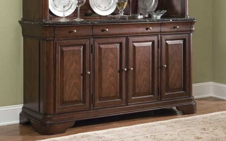 Heritage Court Credenza with Marble Top - Legacy Classic