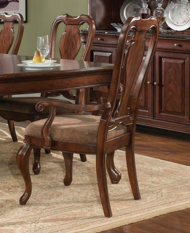 Heritage Court Queen Anne Arm Chair