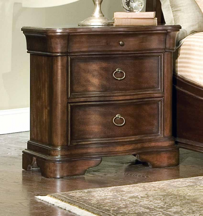 Heritage Court Serpentine Front Night Stand
