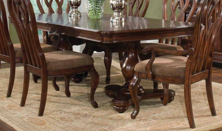 Heritage Court Double Pedestal Extension Table