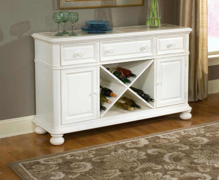 South Hampton Credenza with Marble Top