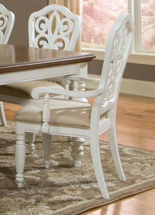 South Hampton Pierced Back Arm Chair