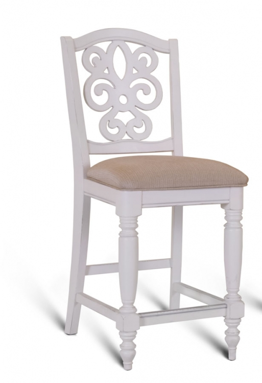 South Hampton Bar Height Pierced Back Chair