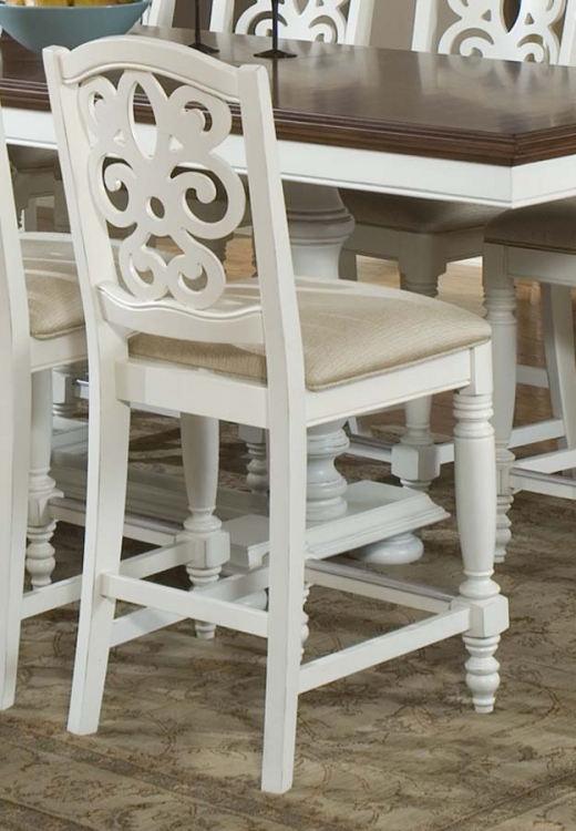 South Hampton Pierced Back High Dining Chair