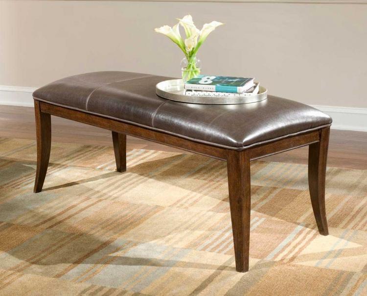 Mercer Street Leather Upholstered Bench