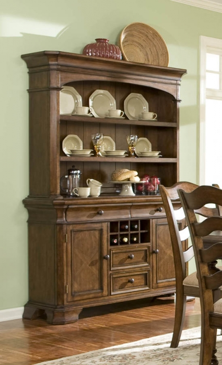 Manor House Credenza with Hutch