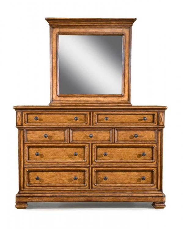 Larkspur Dresser with Rectangular Mirror