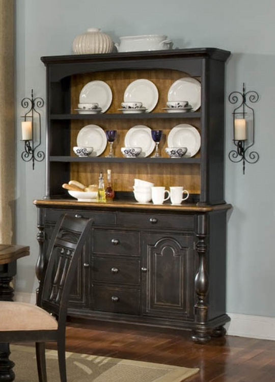 Banister Credenza with Hutch