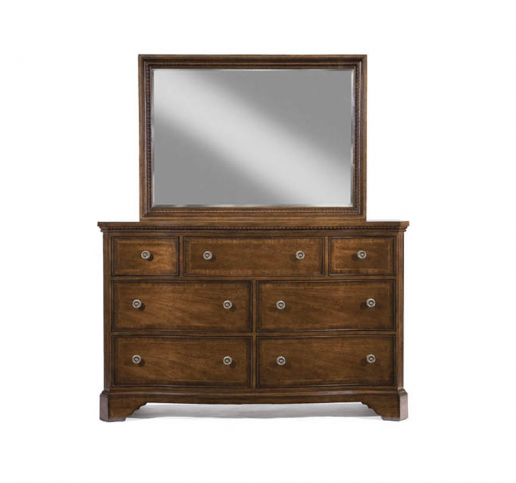 American Traditions Dresser with Rectangular Landscape Mirror