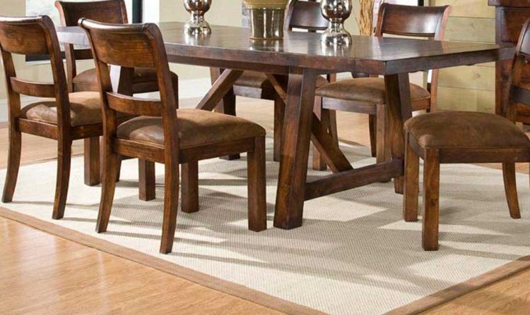 Woodland Ridge Rectangular Trestle Table