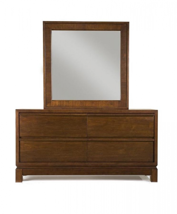 Perspectives Dresser with Square Mirror