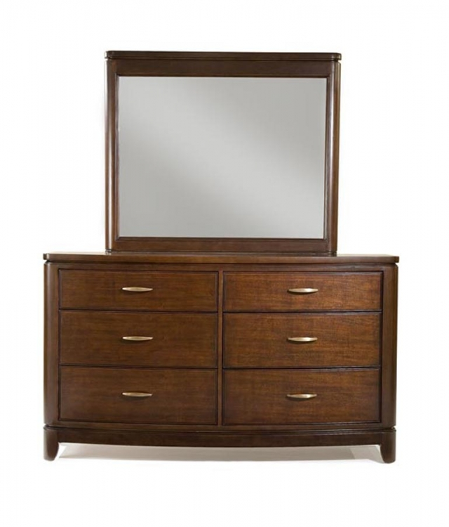 Boulevard Dresser with Rectangular Mirror