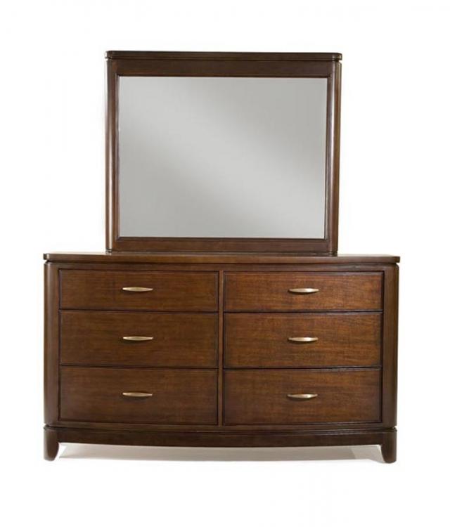 Boulevard Dresser with Rectangular Mirror