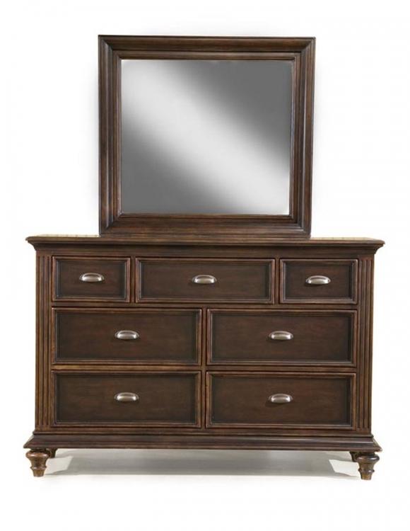 Chestnut Hill Bureau with Rectangular Mirror