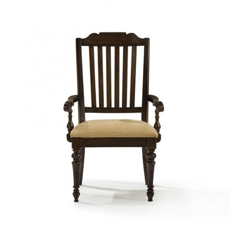 Chestnut Hill Slat Back Arm Chair