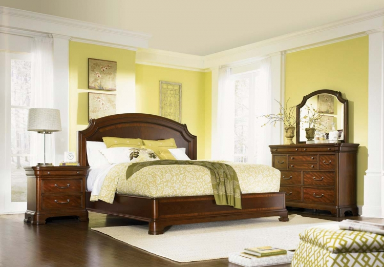 Evolution Scroll Top Platform Bedroom Collection