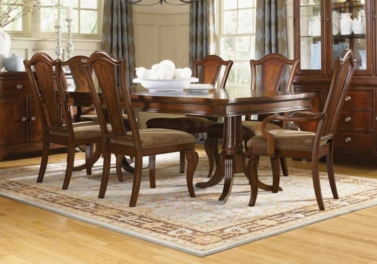 American Traditions Rectangular Pedestal Dining Collection - Legacy Classic
