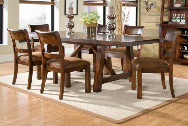 Woodland Ridge Rectangular Trestle Dining Collection - Legacy Classic