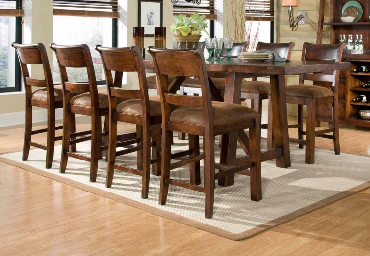 Woodland Ridge Rectangular Trestle Pub Dining Collection - Legacy Classic