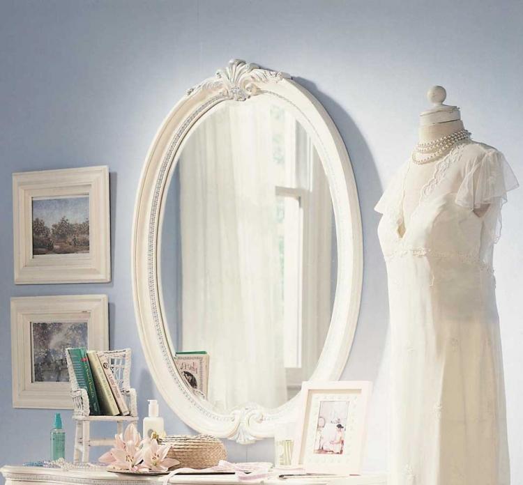 Lea Jessica McClintock Romance Oval Mirror  Furniture