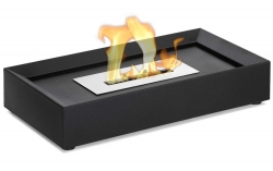 Serpa Table Top Ethanol Fireplace - Black - Moda Flame