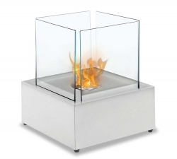Sevilla Table Top Ethanol Fireplace - White - Moda Flame