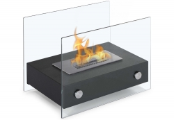 Elda Table Top Ethanol Fireplace - Black - Moda Flame