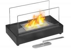 Vigo Table Top Ethanol Fireplace - Black - Moda Flame