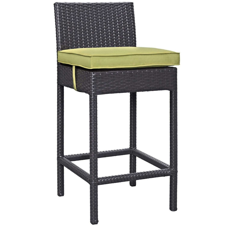 Convene Outdoor Patio Fabric Bar Stool - Espresso Peridot
