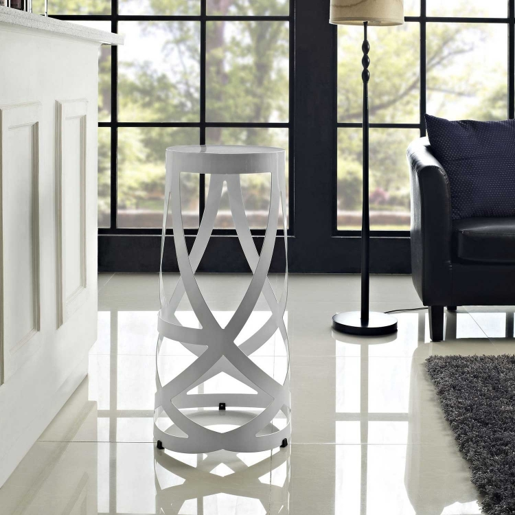 Ribbon Bar Stool - White