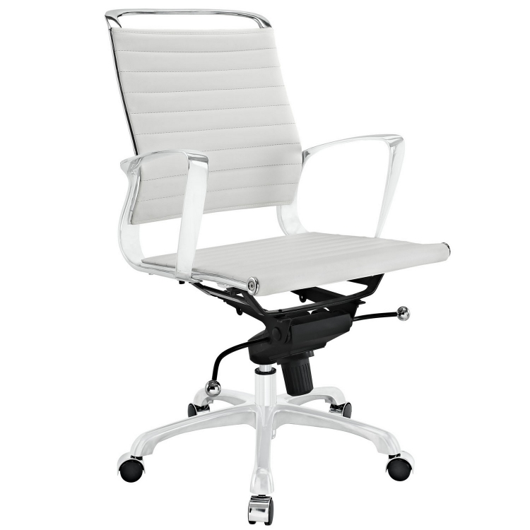 Tempo Mid Back Office Chair - White