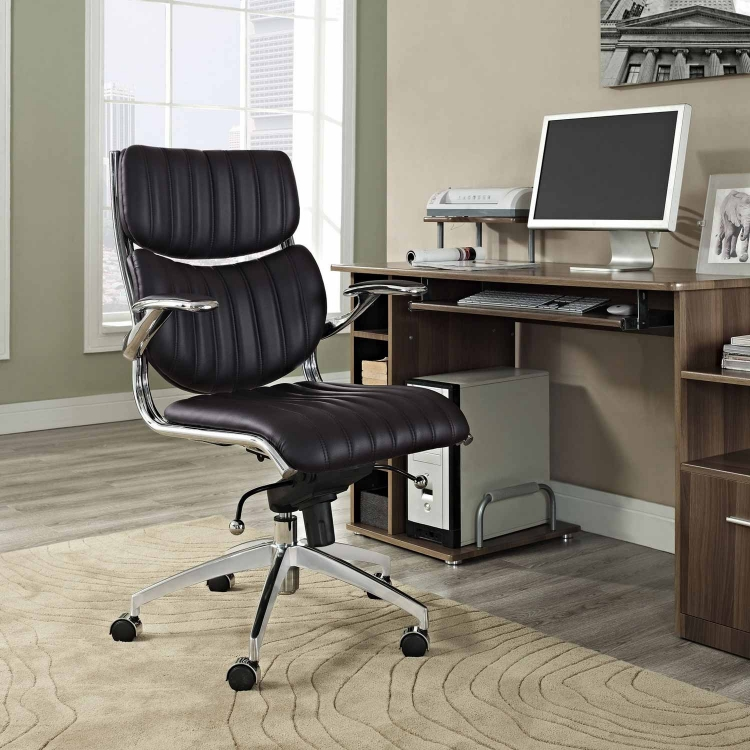 Escape Mid Back Office Chair - Brown