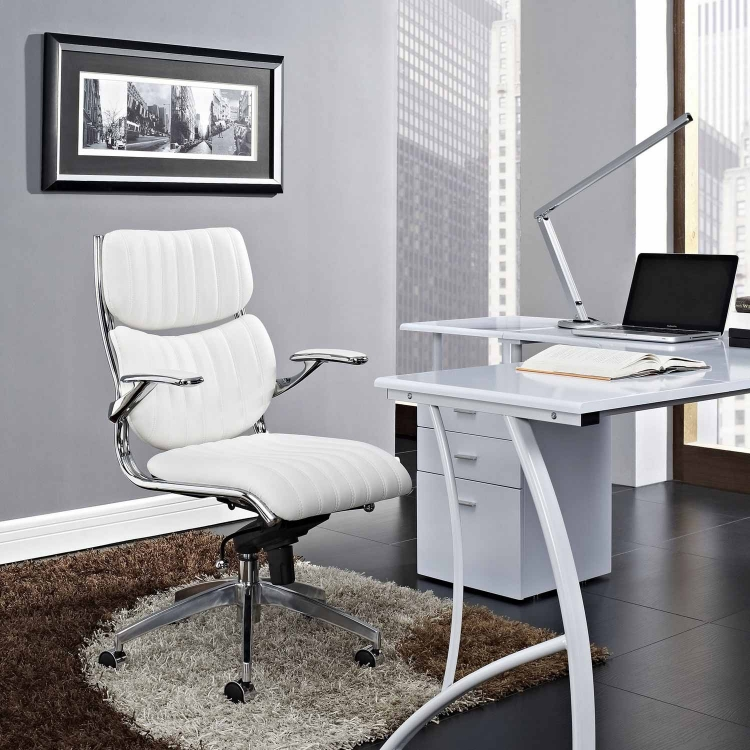 Escape Mid Back Office Chair - White