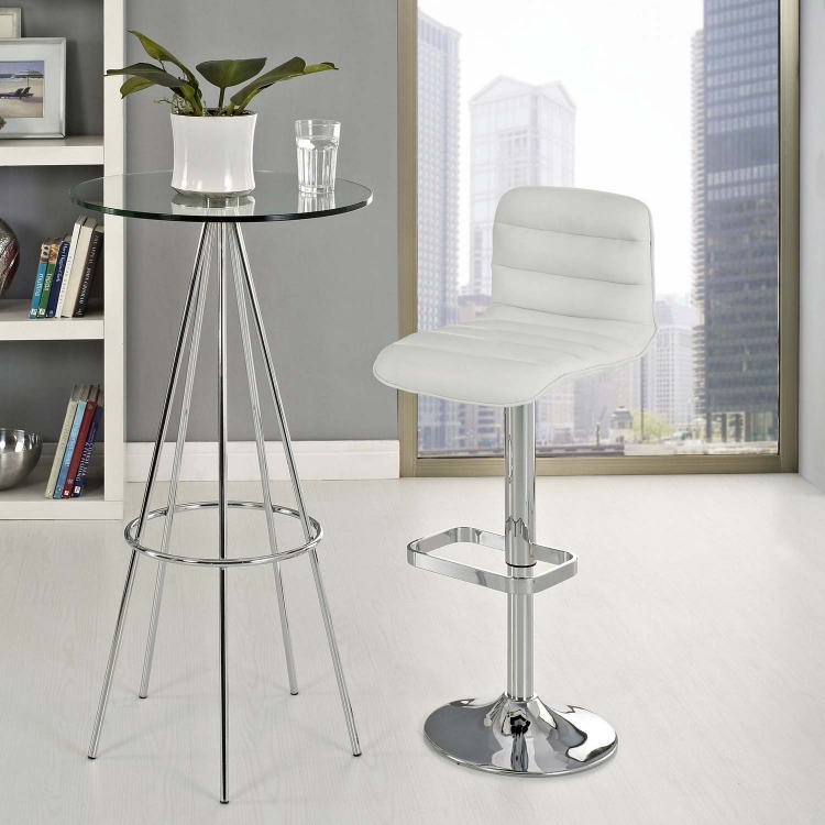 Ripple Bar Stool - White