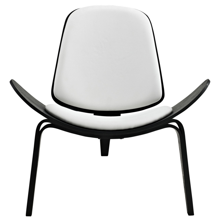 Arch Lounge Chair - Black/White