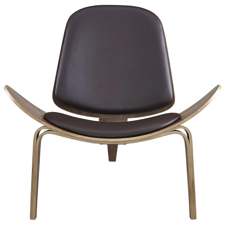 Arch Lounge Chair - Walnut Brown