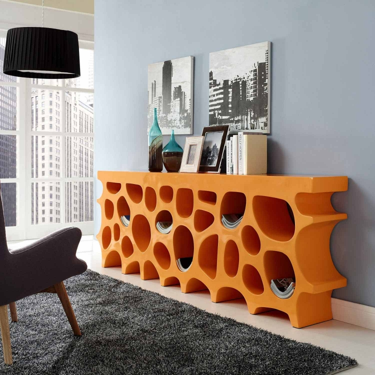 Wander Stand Storage Console Table - Orange