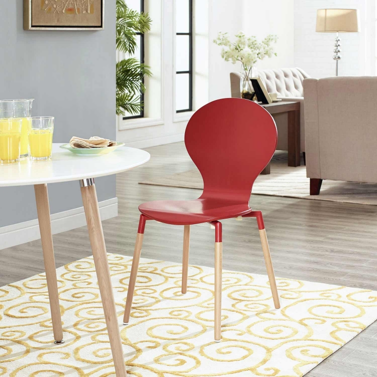 Path Dining Side Chair - Red