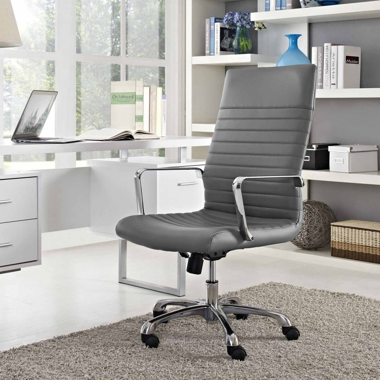 Finesse Highback Office Chair - Gray