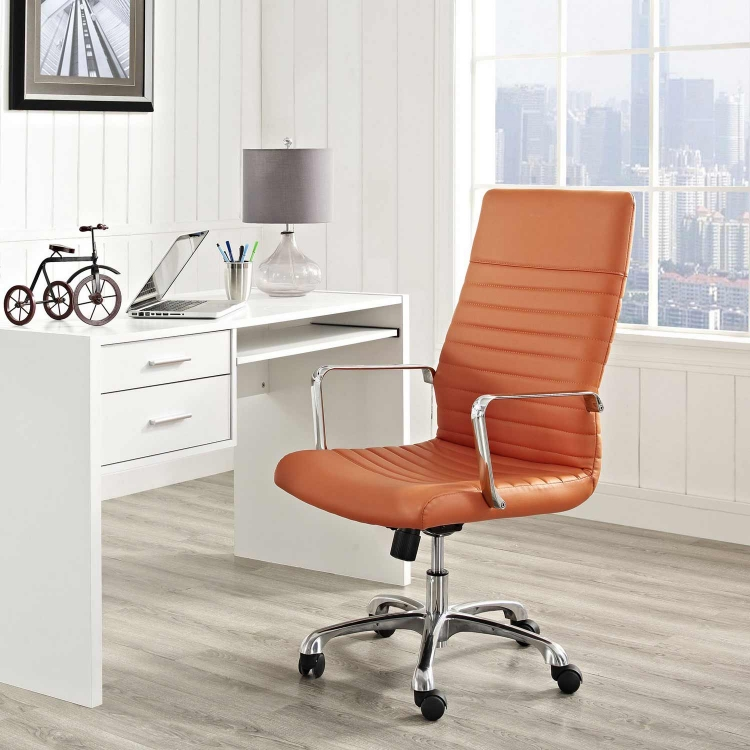 Finesse Highback Office Chair - Orange