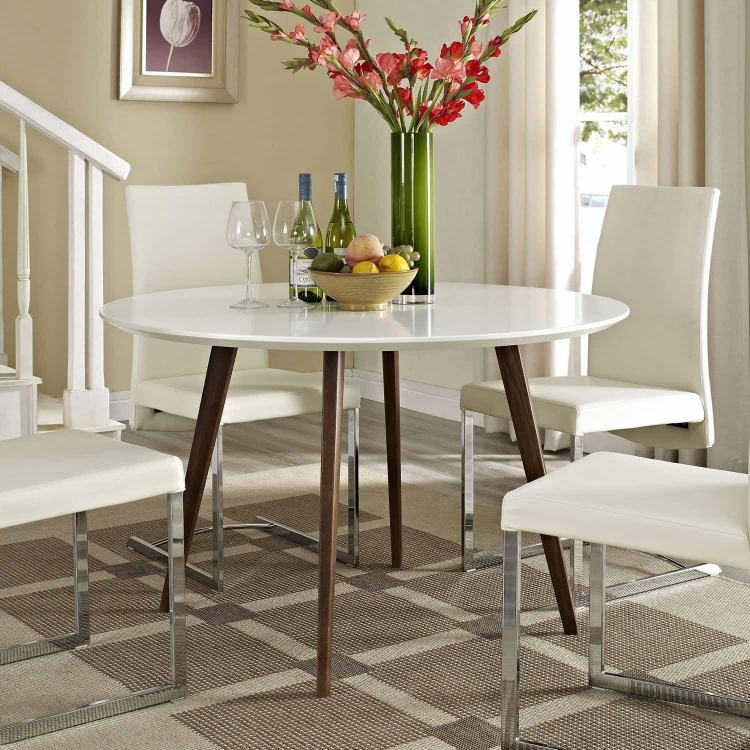 Canvas Dining Table - White