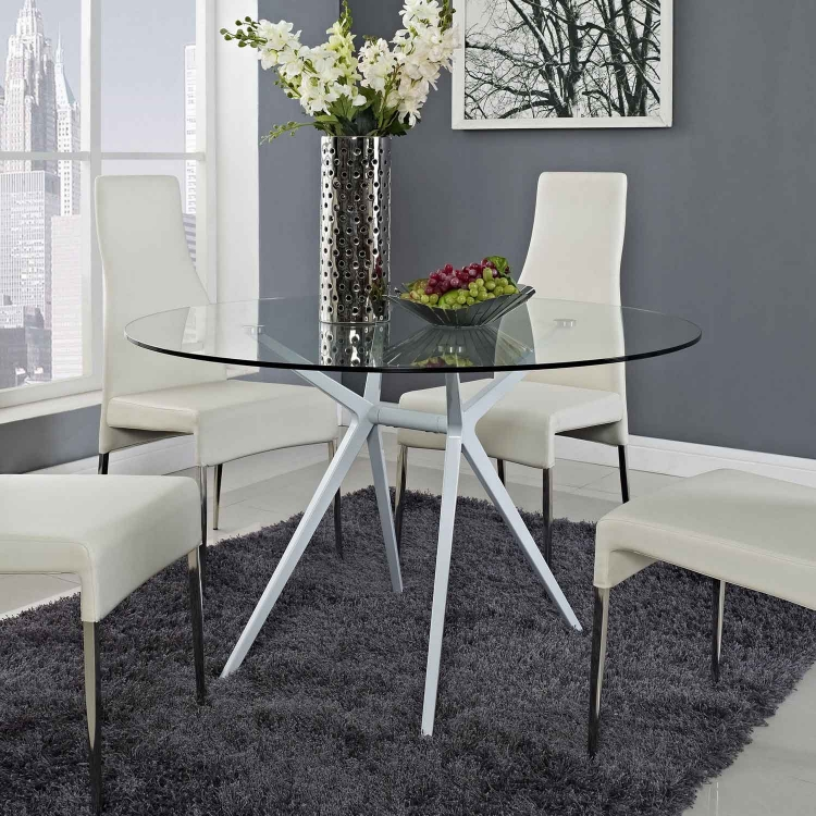 Tilt Dining Table - White