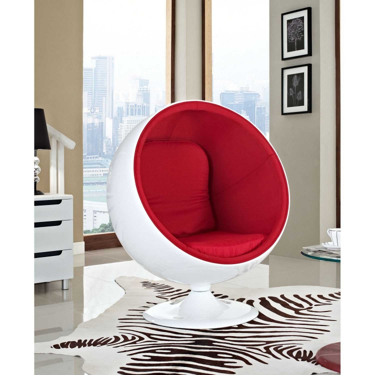 Kaddur Lounge Chair - Red